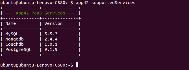 app42paas_supported_services