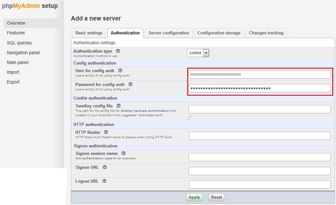 phpmyadmin-add-server-2